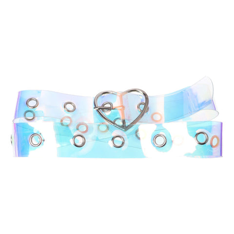 Holographic Clear Waist Belt 🍭