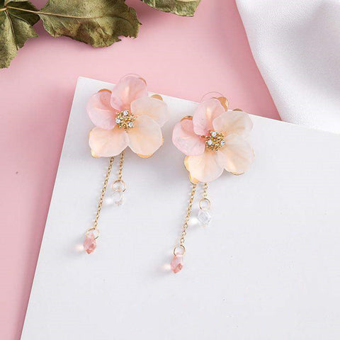 Flower Tassel Earrings 🌸