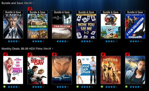 VUDU Bundle and Monthly Deals