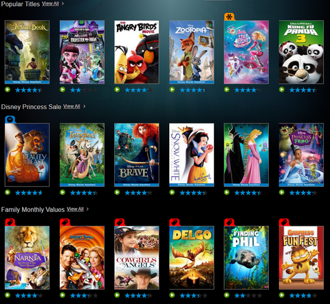 VUDU Kids Zone Deals