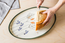 Load image into Gallery viewer, Porcelain Floral Serving Platters