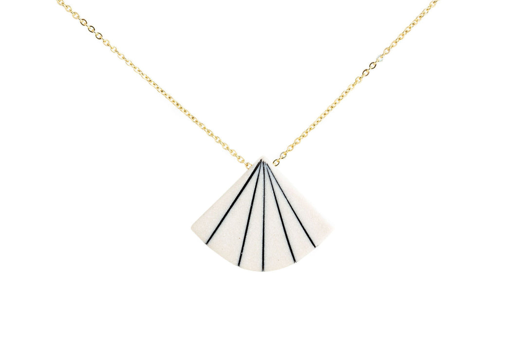 Pinstripe Fan Necklace