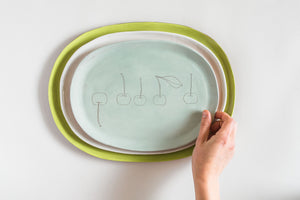 Earthenware Small Oval Serving Tray  (made-to-order)