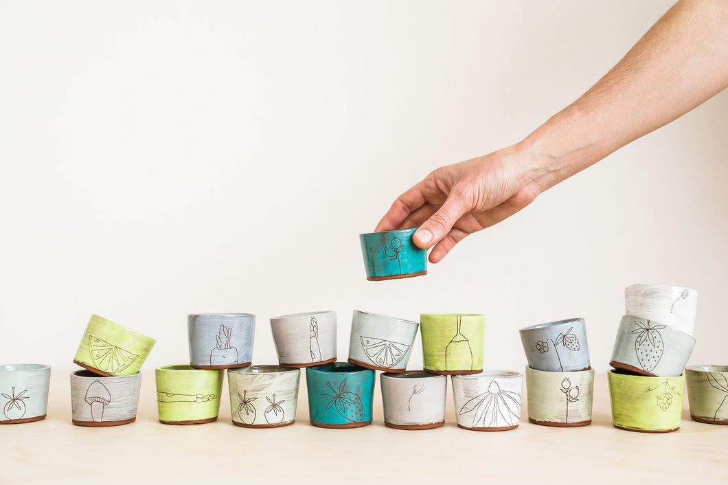 Earthenware Tiny Cups  (made-to-order)