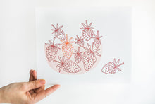 "Load image into Gallery viewer, 8x10"" Berry Bowl Letterpress Print"