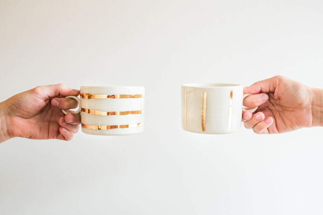 Porcelain Gold Mug