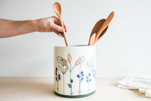 Porcelain Utensil Crock