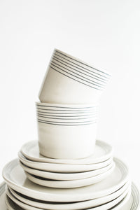 Porcelain Pinstripe Cup (ready to ship)