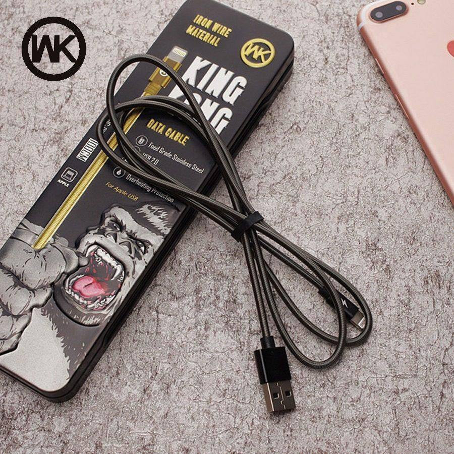 King Kong Iron Wire Data Lightning Cable - Shopna Online Store