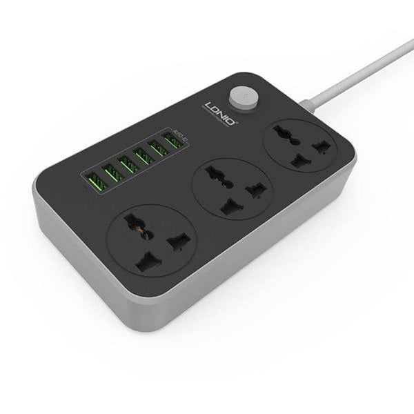 LDNIO Power Socket & Smart 6 USB Charging Ports 3.4A SC3604 - Shopna Online Store