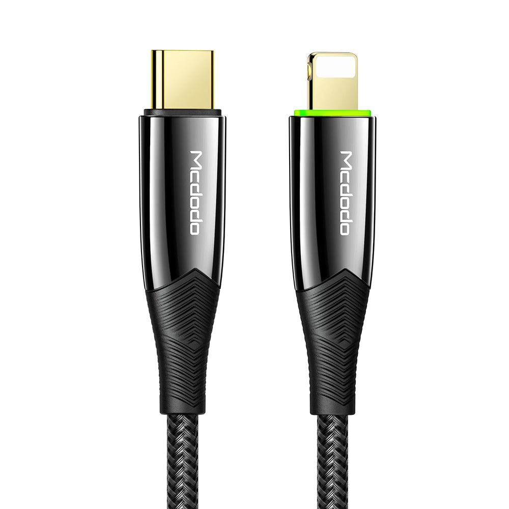 MCDODO Type-C to Lightning 20W 1.8M smart cable.