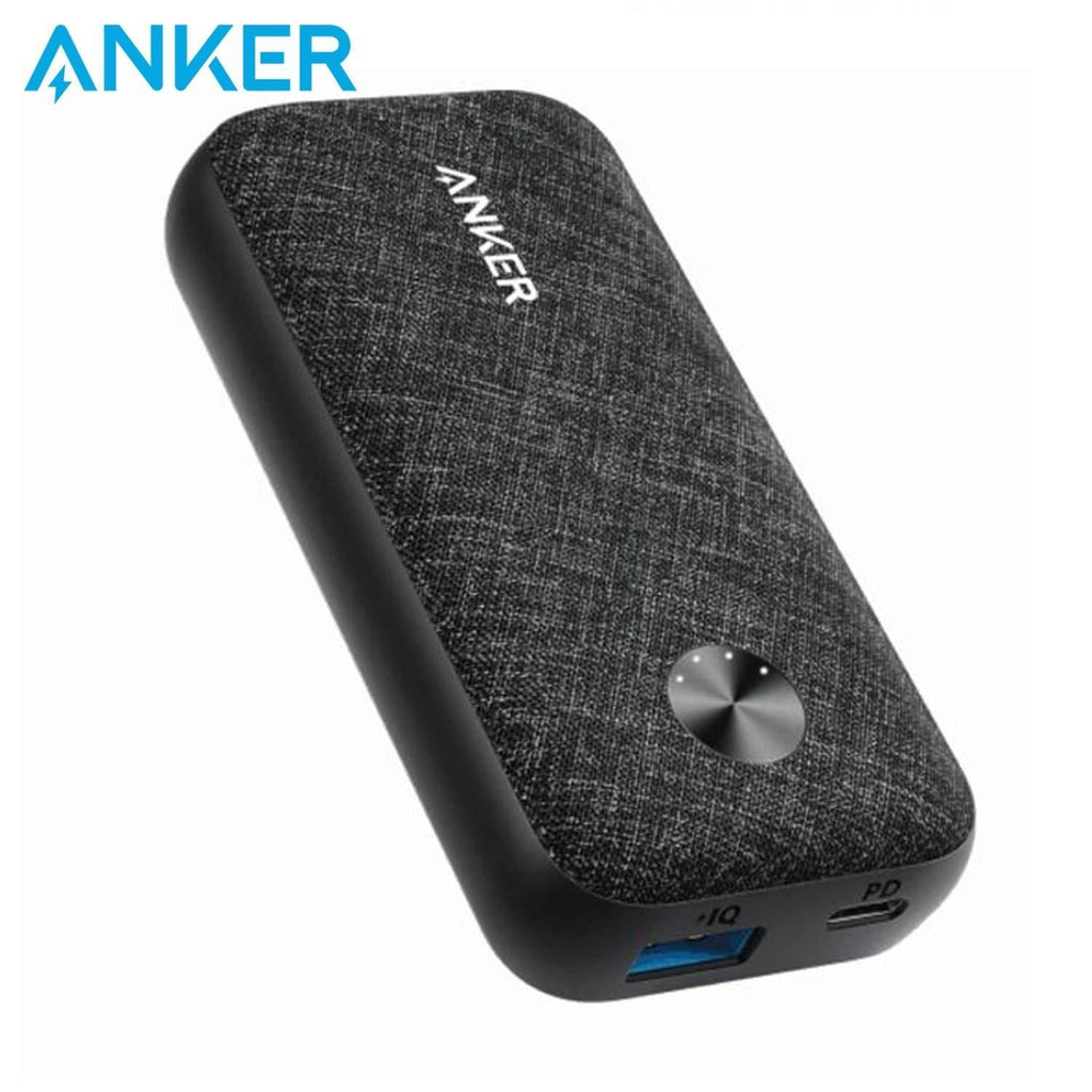 ANKER PowerCore Metro 10000 mAh 18W PD Portable Compact Power Bank - Black Fabric - Shopna Online Store