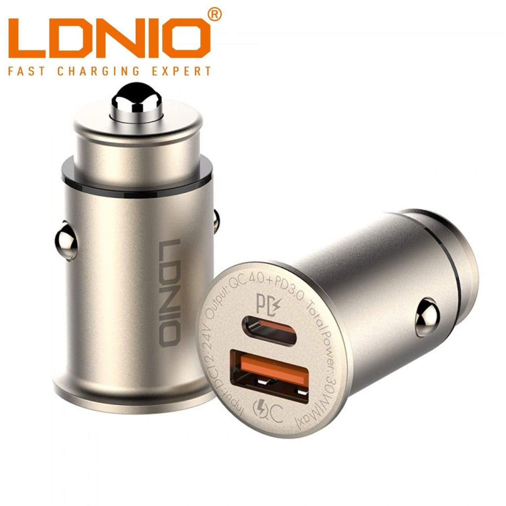LDNIO C506Q TYPE-C PD + 30W QC4.0 SINGLE USB PORT FAST CHARGE CAR CHARGER - Shopna Online Store