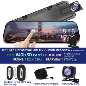 HD Touchscreen MirrorCam DashCam+Rearview DVR