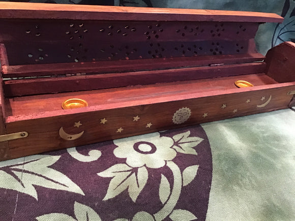 Coffin style incense box