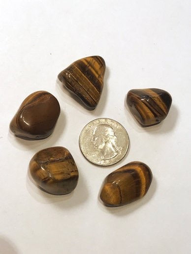 Tumbled tigers eye
