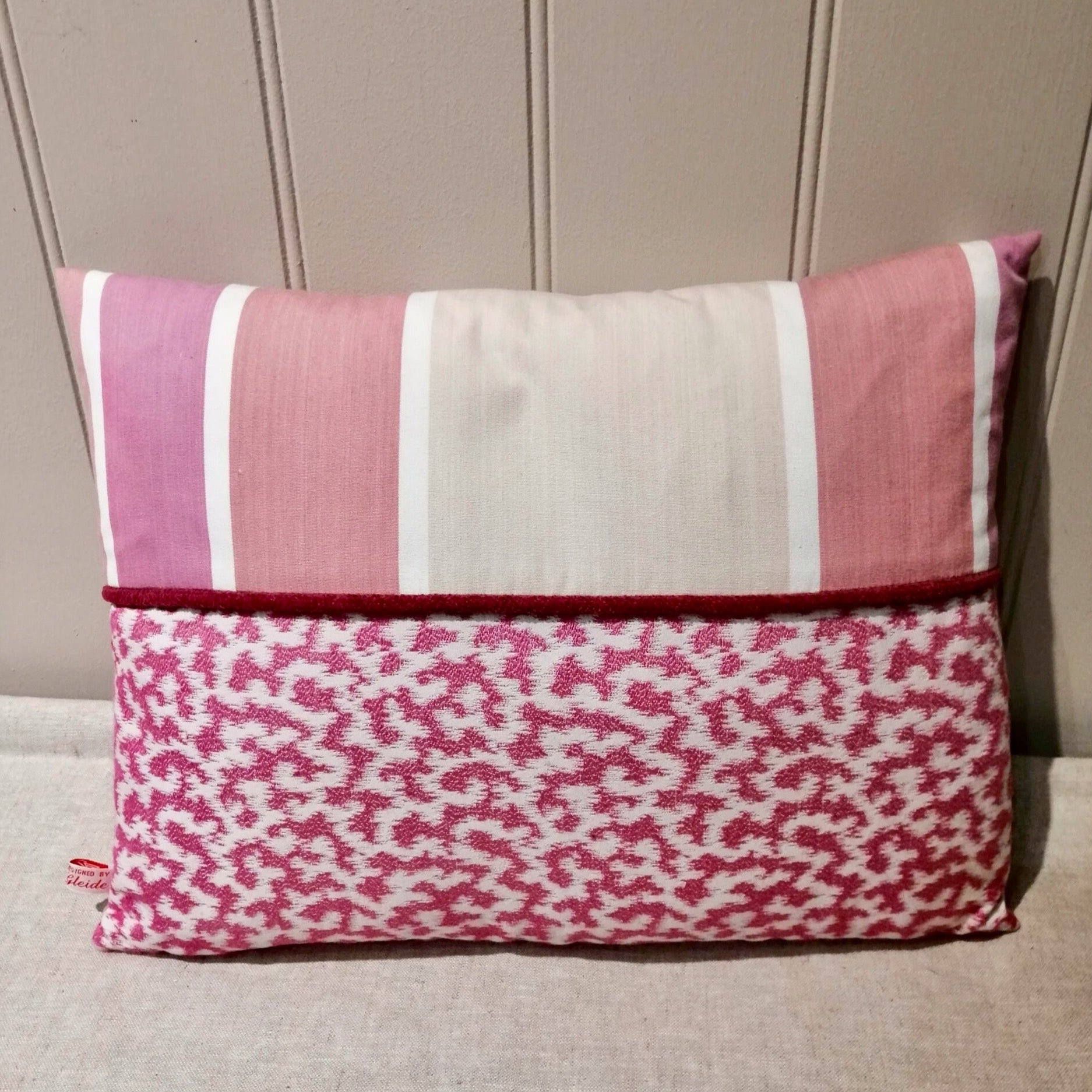 Designer Guilds Fabric Pink Cushion