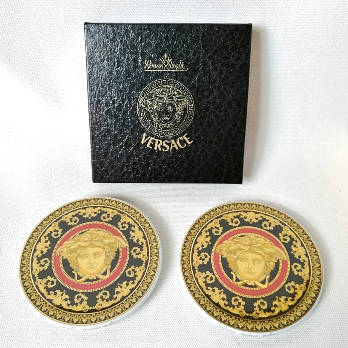 Set Of Two Genuine Versace Coasters