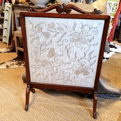Victorian Silk Fire Screen