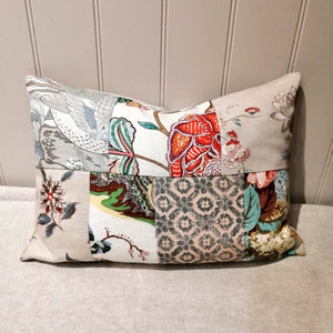 Linen Patchwork Cushion