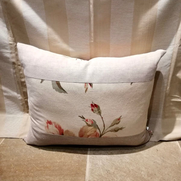 Large Bespoke Cushion in Mulberry Linen