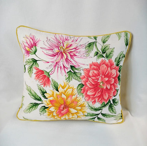 Sandersons Yellow Floral Cushion
