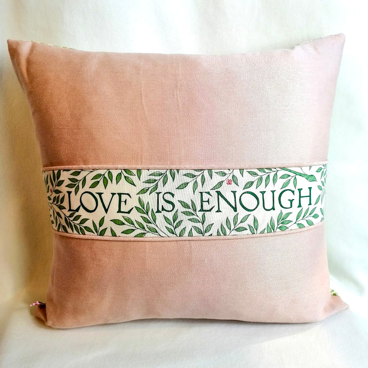 Pink & Green Love Is Enough Cushion