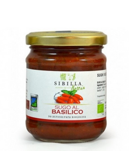 Organic tomato sauce with Norcia basil