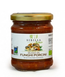 Organic sauce with porcini mushrooms from Norcia