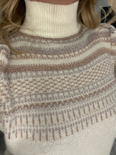 Load image into Gallery viewer, Lydia High Neck Patterned Sparkle Jumper - Cream