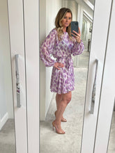 Load image into Gallery viewer, Freya Belted Print Dress - Lilac