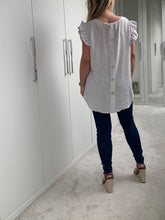 Load image into Gallery viewer, Nova Button Back Smock Top - White