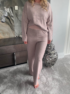 Fernen 2 Piece Loungewear Set - Pink/Grey (Limited Edition)