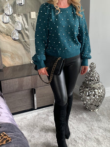 Liana Pearl Jumper - Teal (Limited Edition)