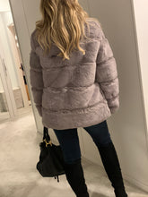 Load image into Gallery viewer, Felicity Faux Fur Coat - Silver Grey