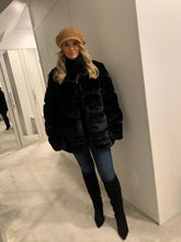 Load image into Gallery viewer, Felicity Faux Fur Coat - Black