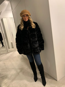 Felicity Faux Fur Coat - Black