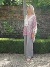 Load image into Gallery viewer, Monaco Floral Kaftan - Pink/Cream