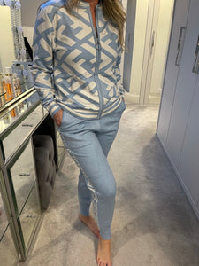 FF 2 Piece Loungewear Set - Pale Blue/White (Limited Edition)