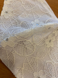 Face Mask - White Lace Design