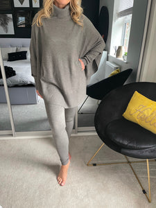 Lila 2 Piece Loungewear Set - Grey