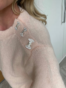 Bow Neck Jumper - Pink