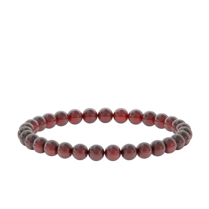 7mm Ruby Bead Bracelet