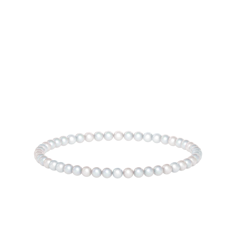 4mm White Moonstone Bead Bracelet