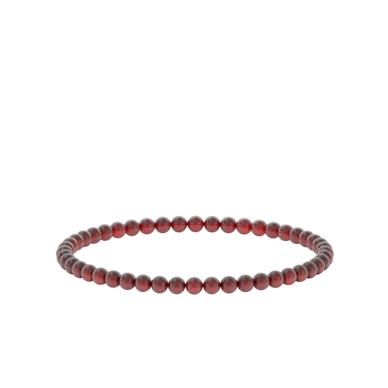 4mm Ruby Bead Bracelet