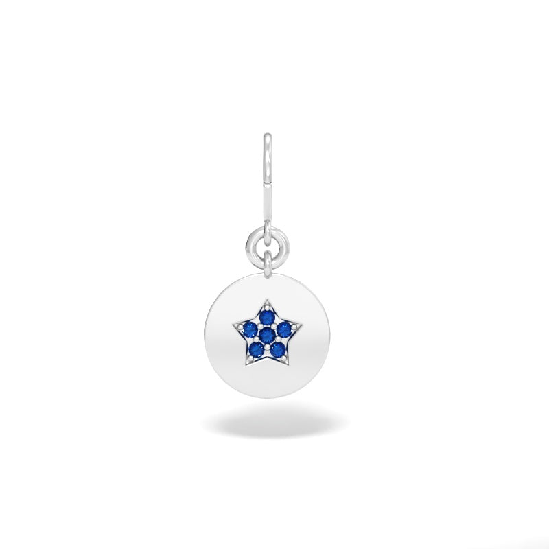 Star Talisman Charm with Blue Sapphires