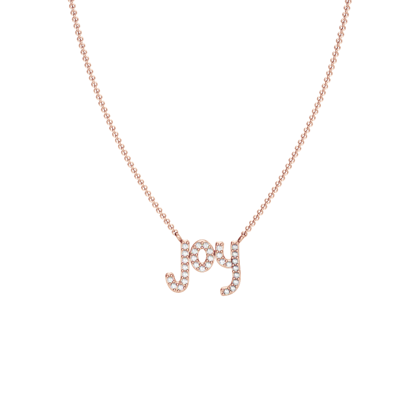 Rose Gold Joy Necklace with Diamonds