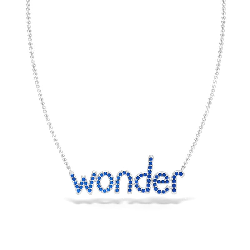 Wonder Necklace with Blue Sapphires