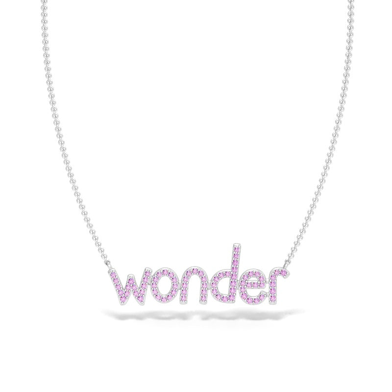 Wonder Necklace with Pink Sapphires