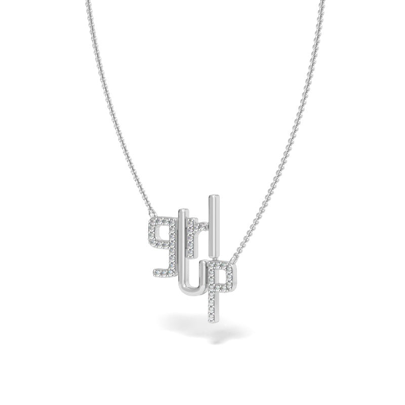 Girl Up Necklace with Diamonds